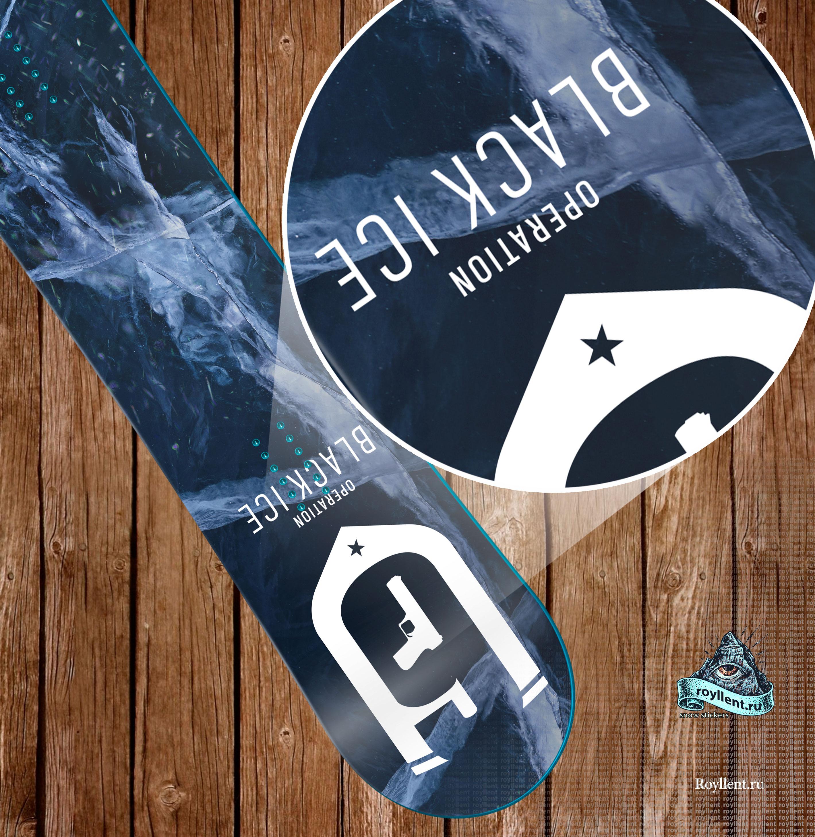 Полноразмерная Tom Clancys Operation Black Iceвиниловая сноуборд стикер наклейка купить