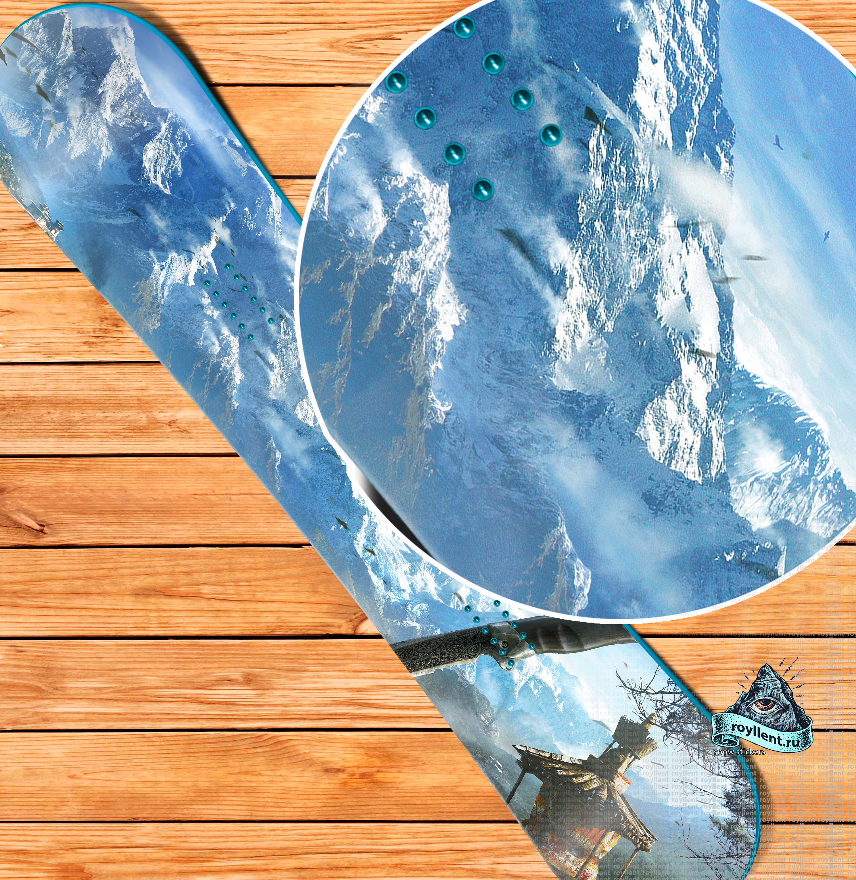Купить полноразмерную наклейку на сноуборд в Москве