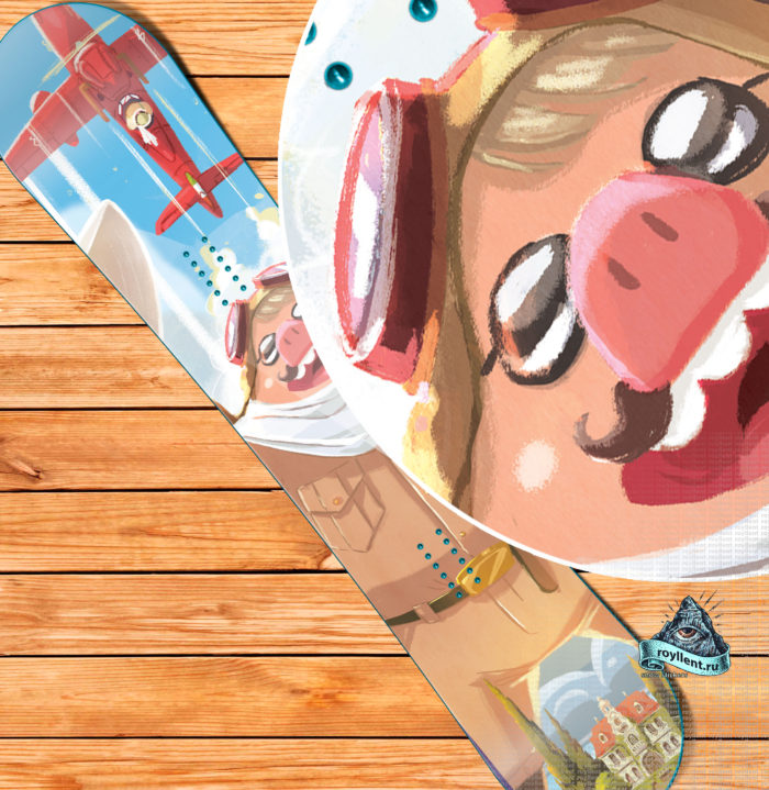 Сноуборд наклейка на доску купить в Барнауле или Екатеренбурге в стиле Анимэ