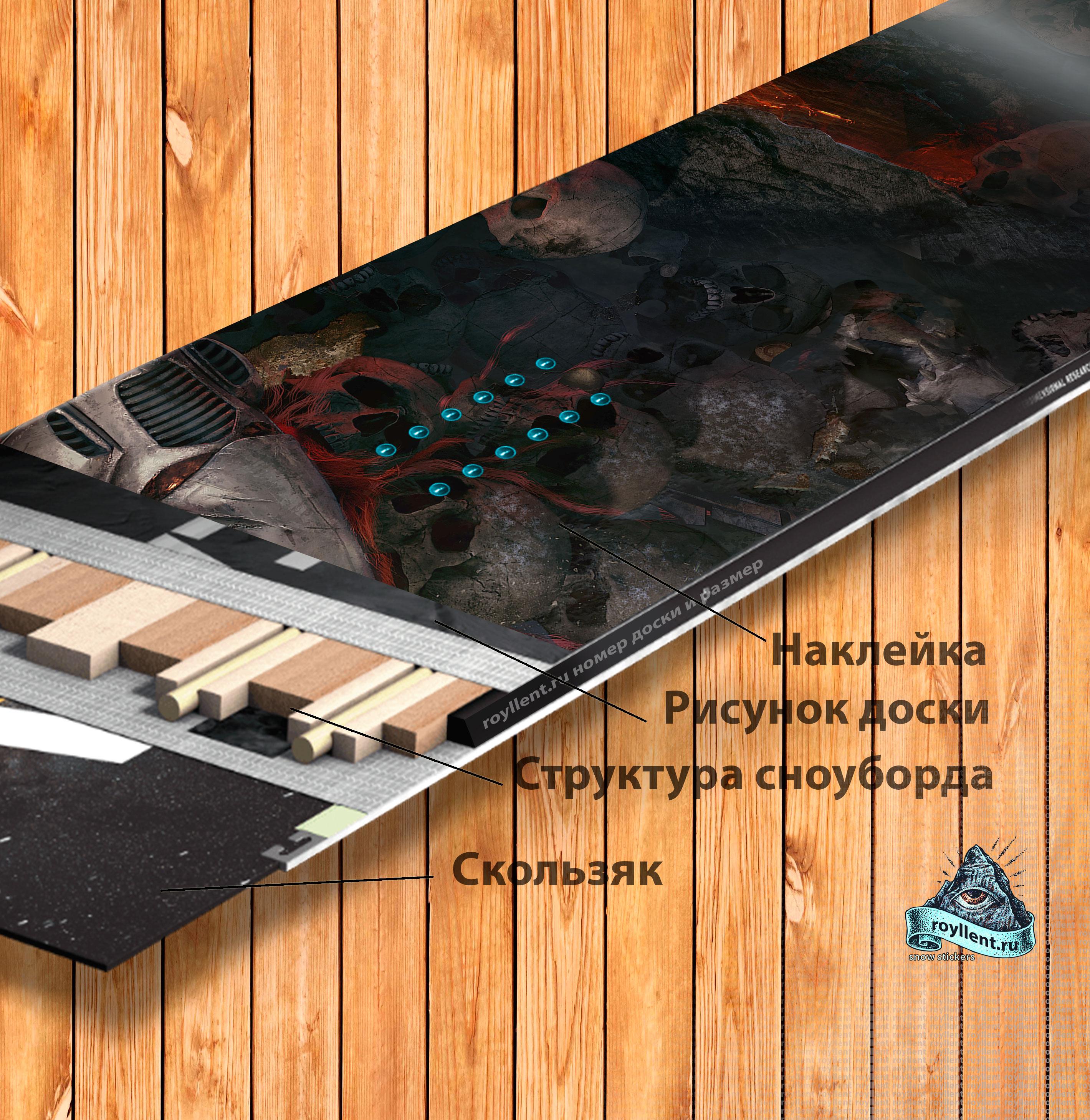 Купить сноуборд наклейку в интернет магазине с доставкой на тему компьютерной игры Warhammer 40,000