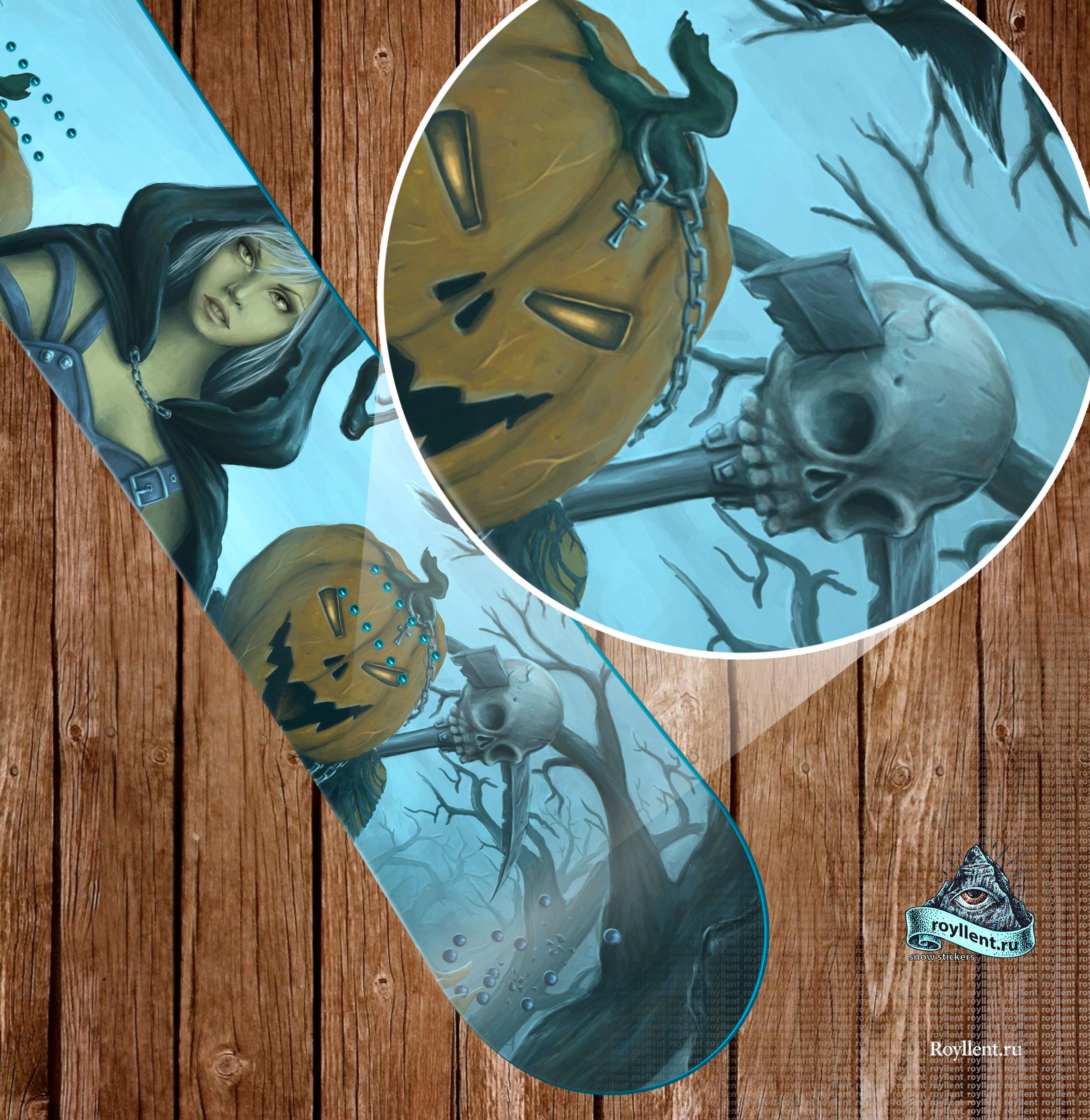 наклейка на сноуборд стикер halloween