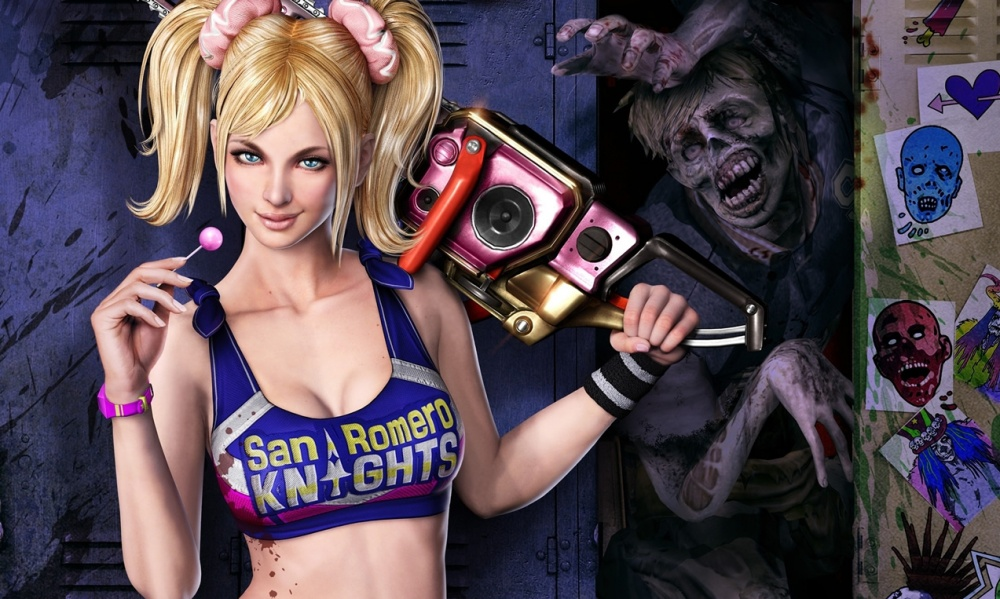 Lollipop Chainsaw сноуборд наклейка