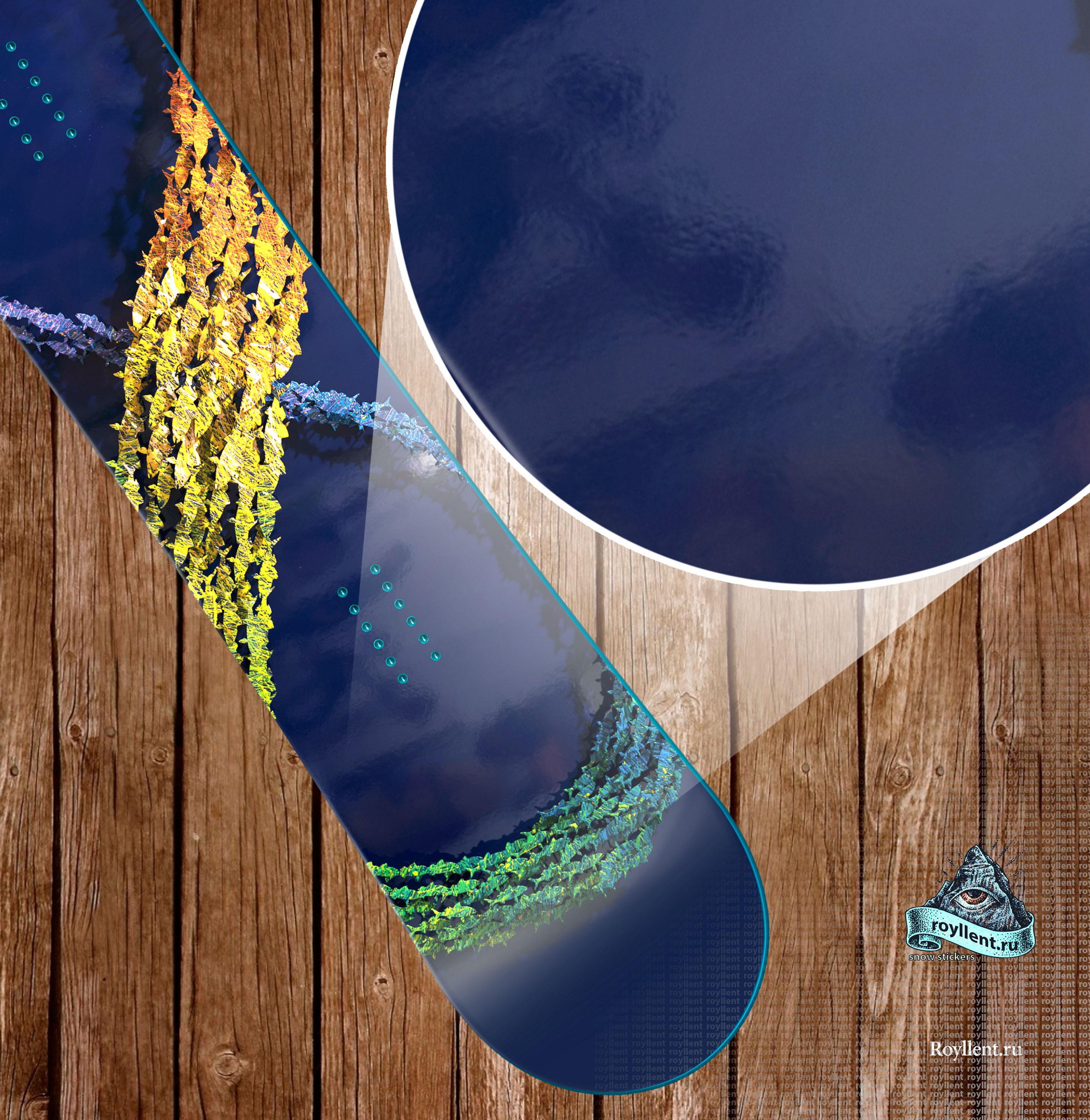 Сноуборд наклейка с рыбками купить недорого с доставкой в интернет магазине