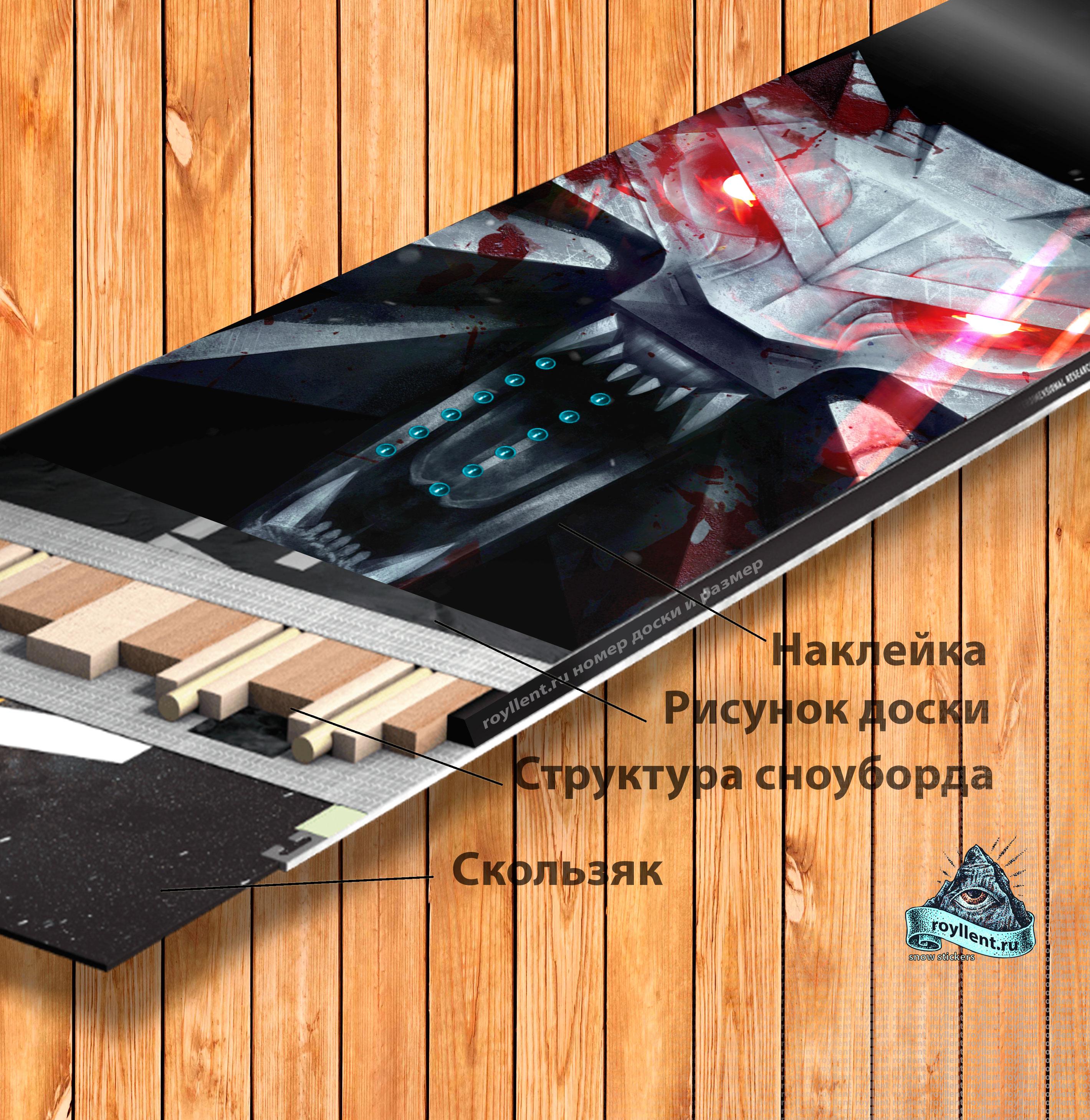 Сноуборд наклейка на доску купить в интернет магазине Wild-Hunt
