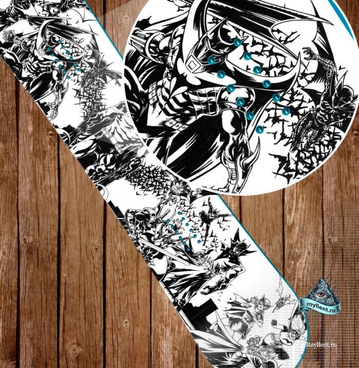 Сноуборд наклейка полноразмерная виниловая Comics Batman Gotham City