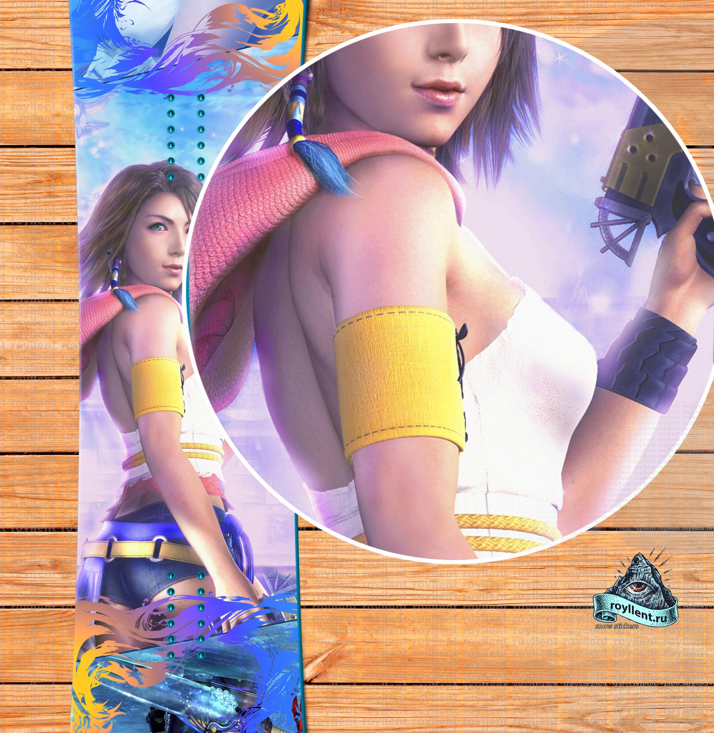 Сноуборд наклейка в стиле Компьютерной игры Финальная Фантазия, Royllent 2017 Anime Final Fantasy X Yuna
