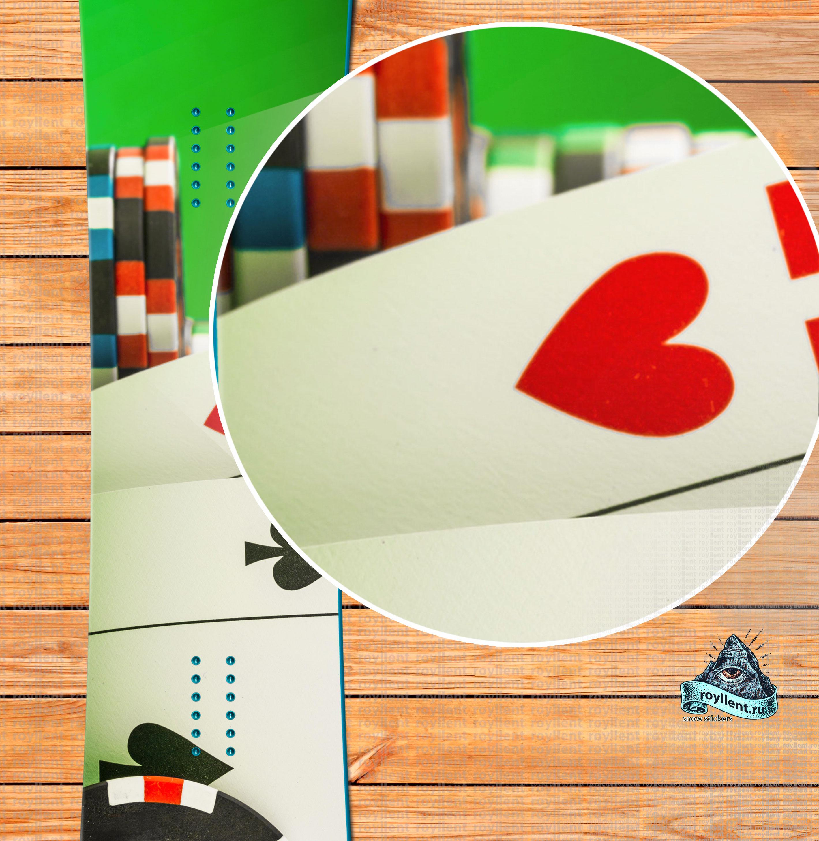 Сноуборд наклейка Игра Покер
