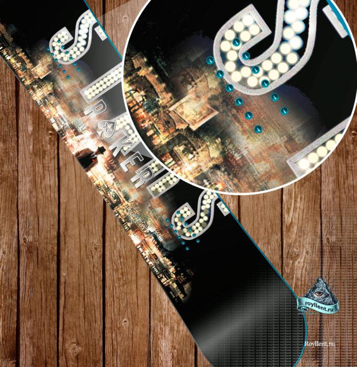 Полноразмерная виниловая наклейка на сноуборд игра в Покер Poker Star