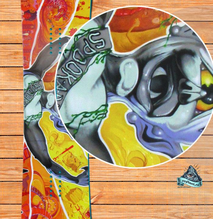 Наклейка на всю доску стикер купить Graffiti Spook-a-rama