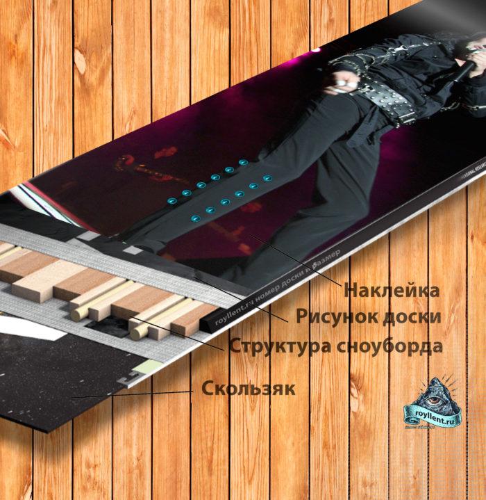 Наклейка на сноуборд Майкл Джексон
