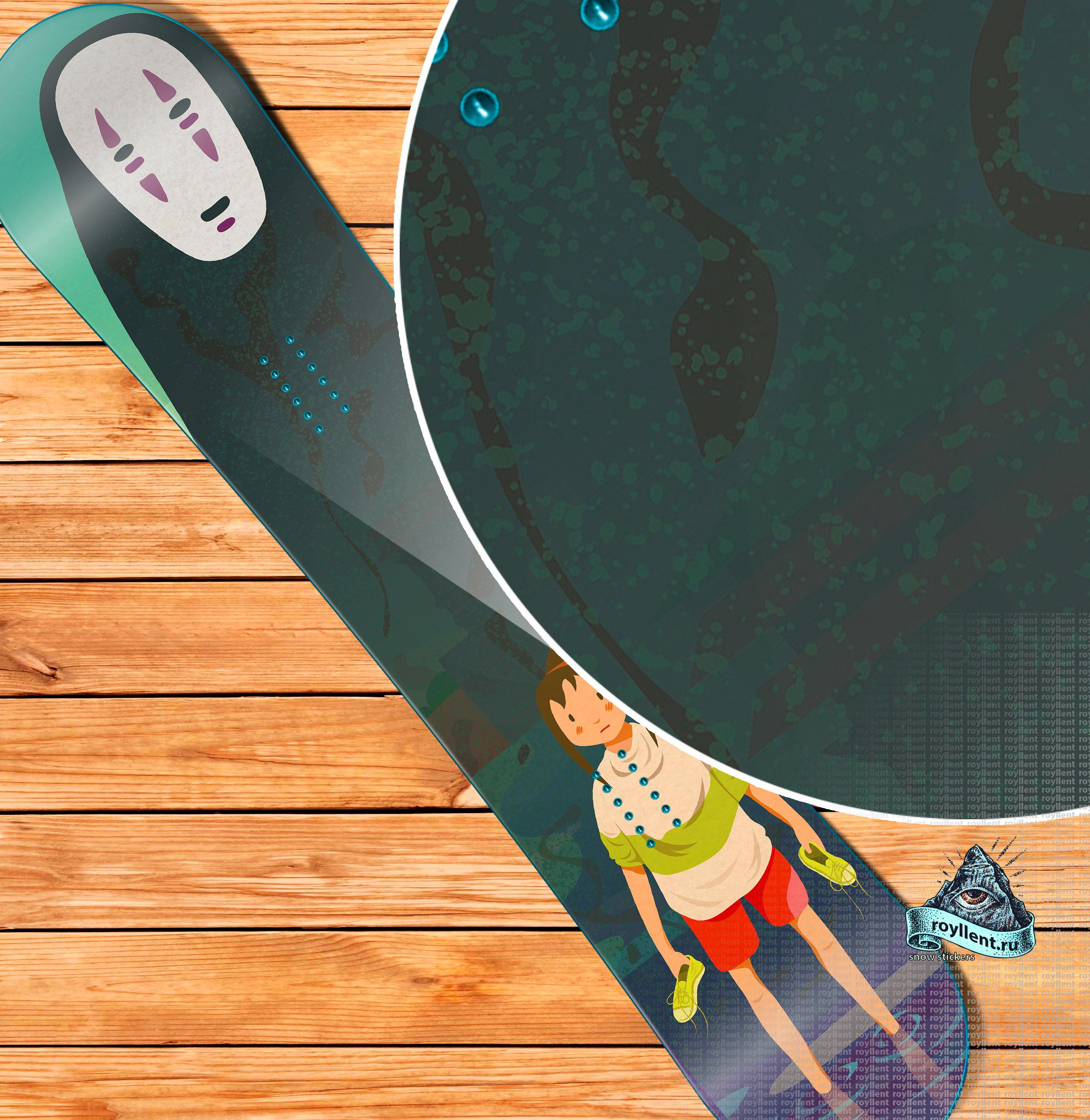 Полноразмерная виниловая наклейка на сноуборд Анимы Красноярск Spirited Away