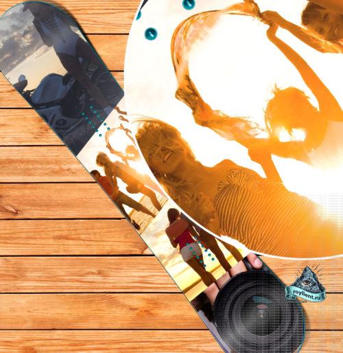 Сноуборд наклейка Summer Holiday Happiness