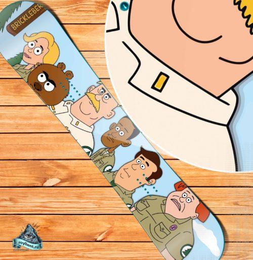 Brickleberry Сноуборд наклейка на доску виниловая в стиле мльт сериала