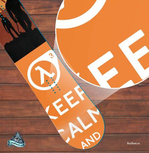 Сноуборд наклейка на доску полноразмерная в стиле Half-Life 3 купить
