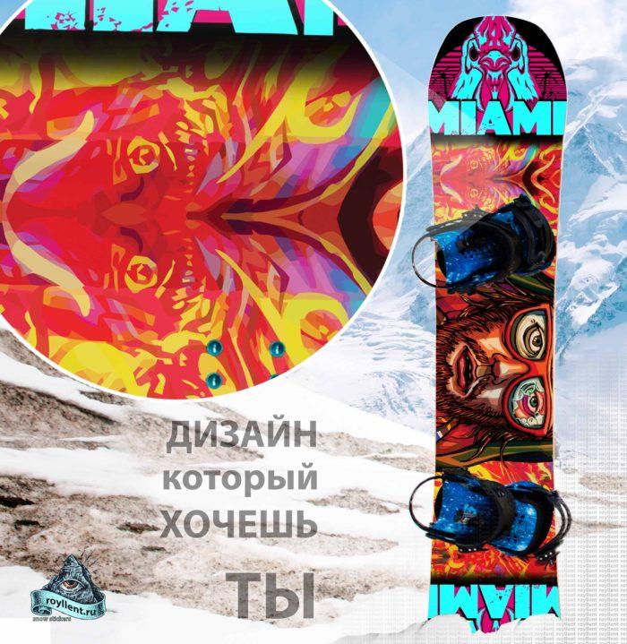 Купить сноуборд наклейку на всю доску полноразмерную в стиле граффити