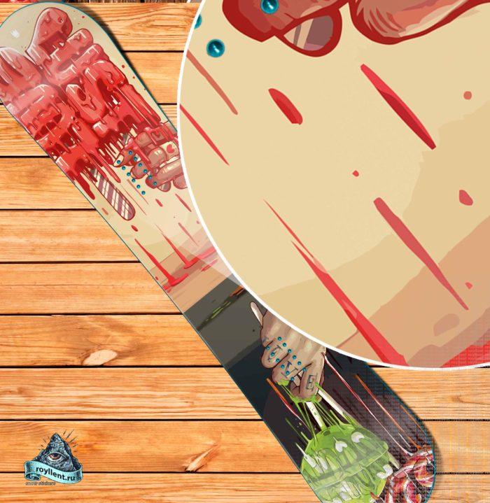 Сноуборд наклейка для доски купить недорого с доставкой в стиле граффити