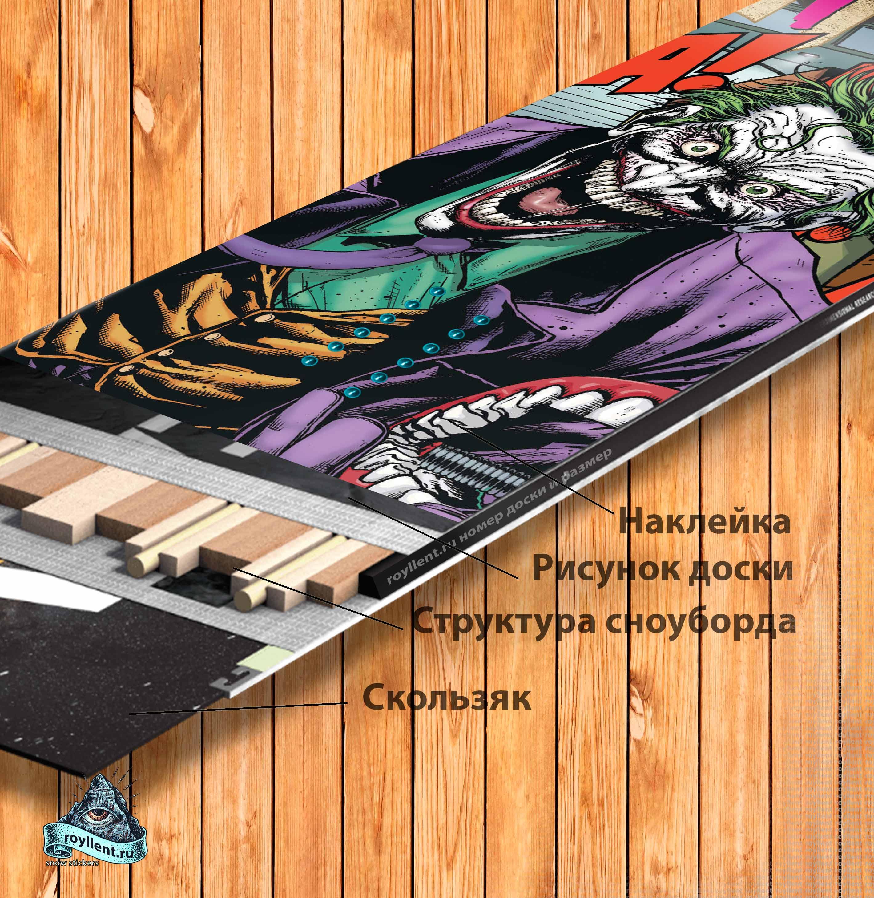 Где купить наклейку недорого на сноуборд Джокер Бэтман Готэмсити