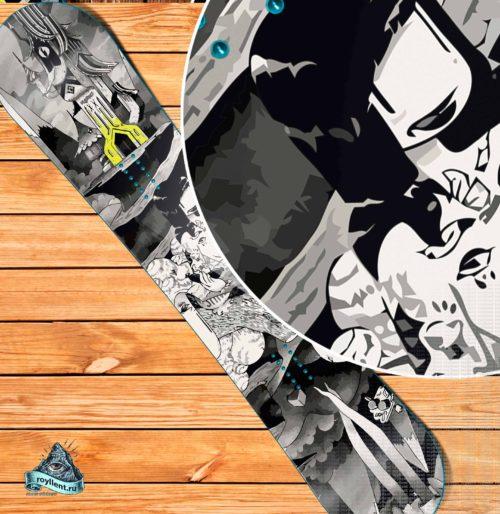 Купить сноуборд наклейку в магазине кант