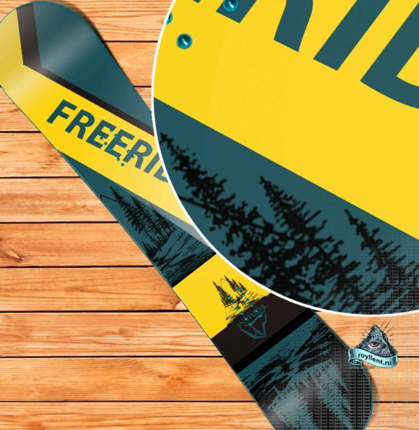 Виниловая наклейка на сноуборд Royllent COOL ZONE 18 SNOWBOARD