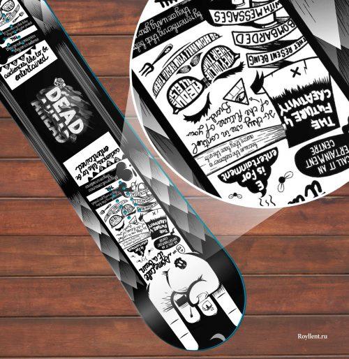 hand Виниловая сноуборд наклейка на всю доску купить недорого