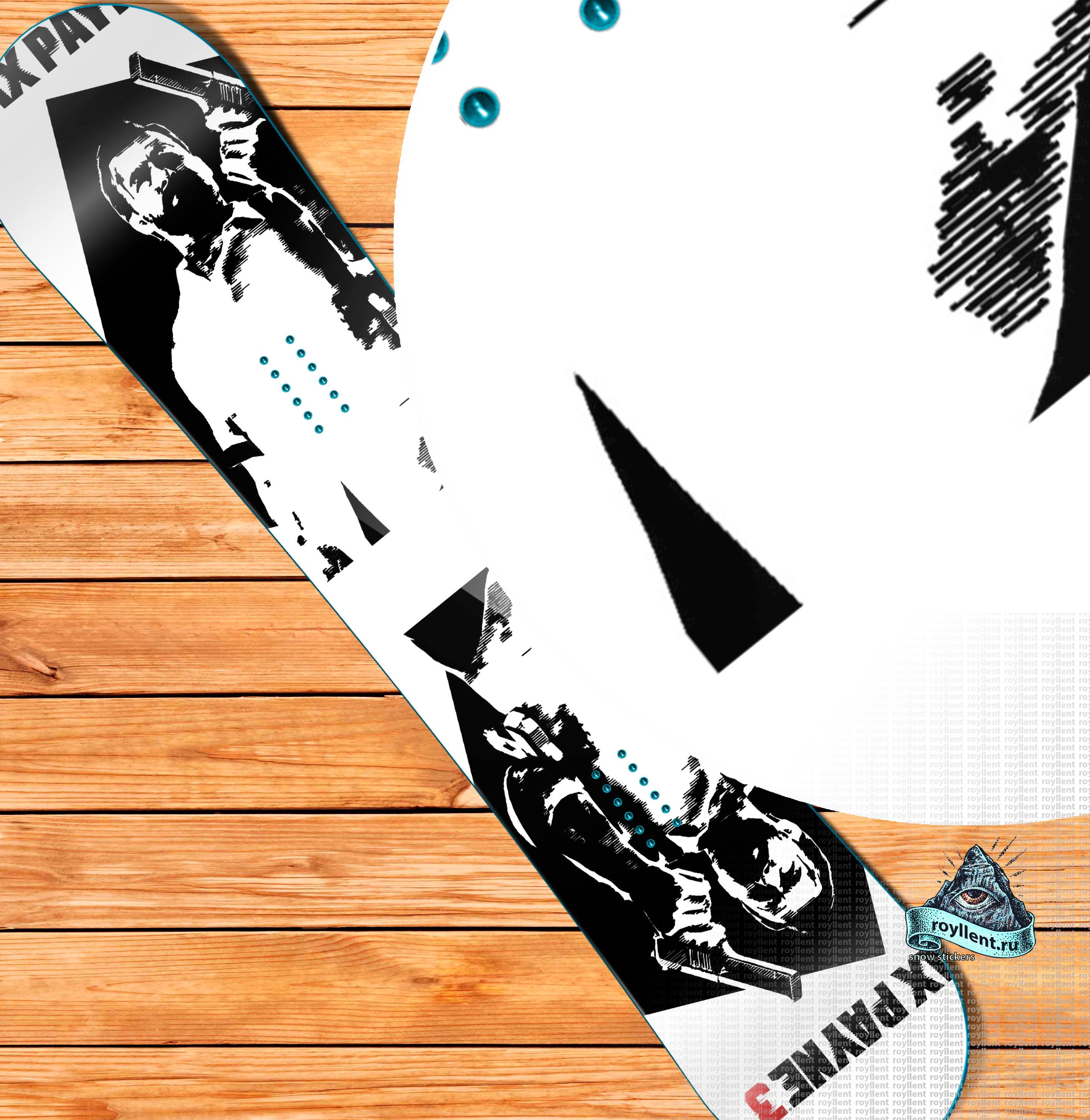 Виниловая наклейка на сноуборд Royllent 2018 Max Payne 2 Wrap snowboard