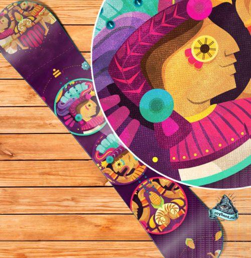 Виниловая наклейка на сноуборд Royllent 2019 Metzican Mexico Design Wrap