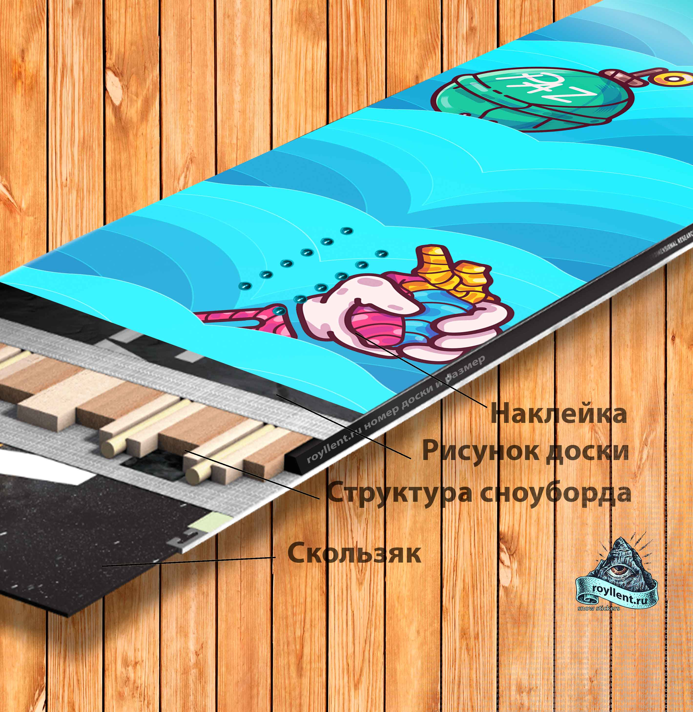 snowboard-Jua Виниловая наклейка на сноуборд Royllent 2019 Juancho Wave Design Wrap на Алиэкспресс наклейка будет дороже чем у нас