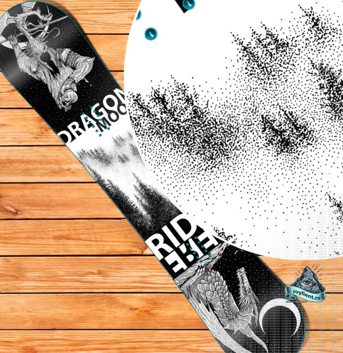 dragon-moon Купить виниловую пленку самоклеющуюся на сноуборд доску с доставкой недорого