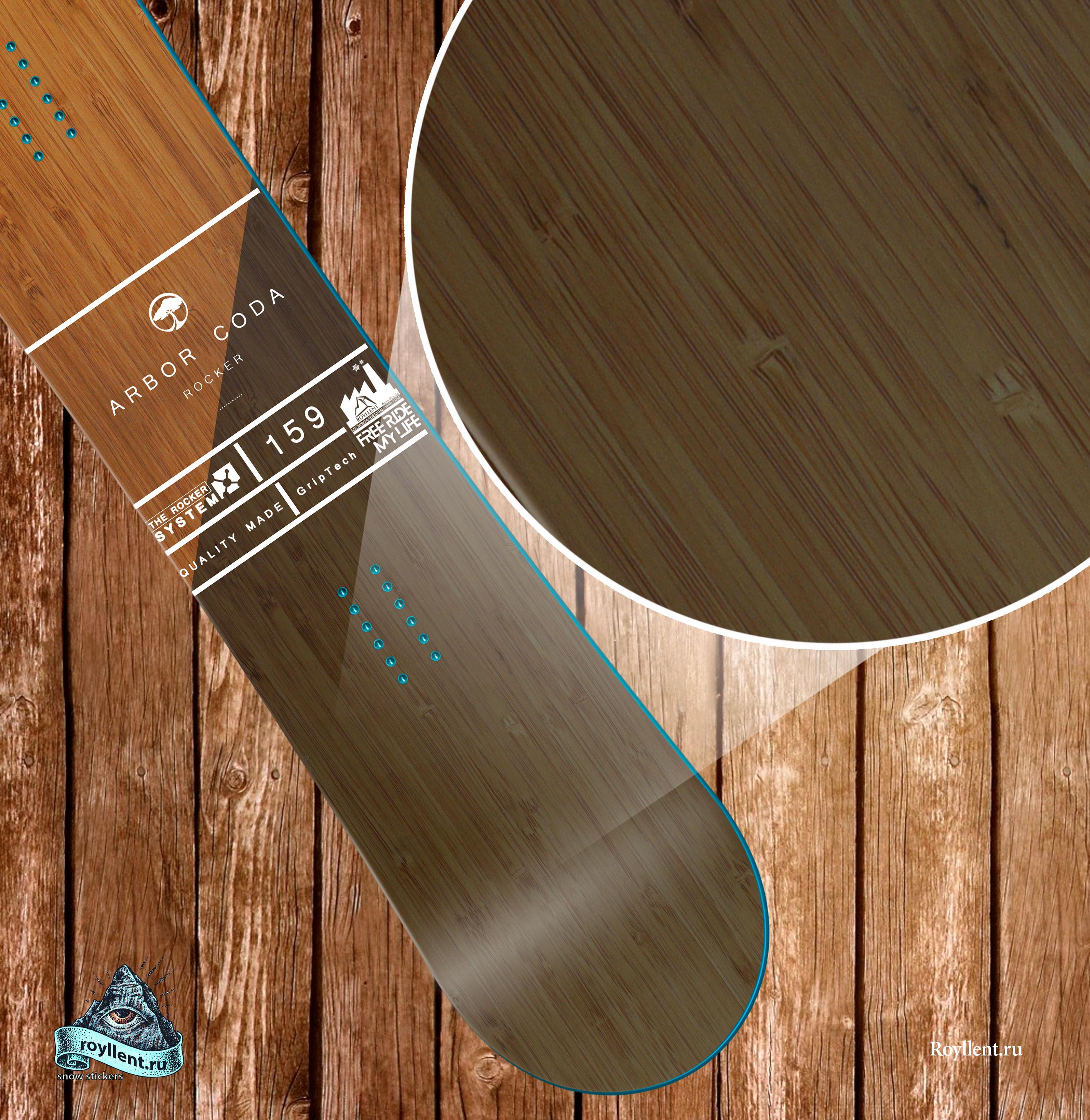 Arbor-Coda-Rocker купить сноуборд наклейку