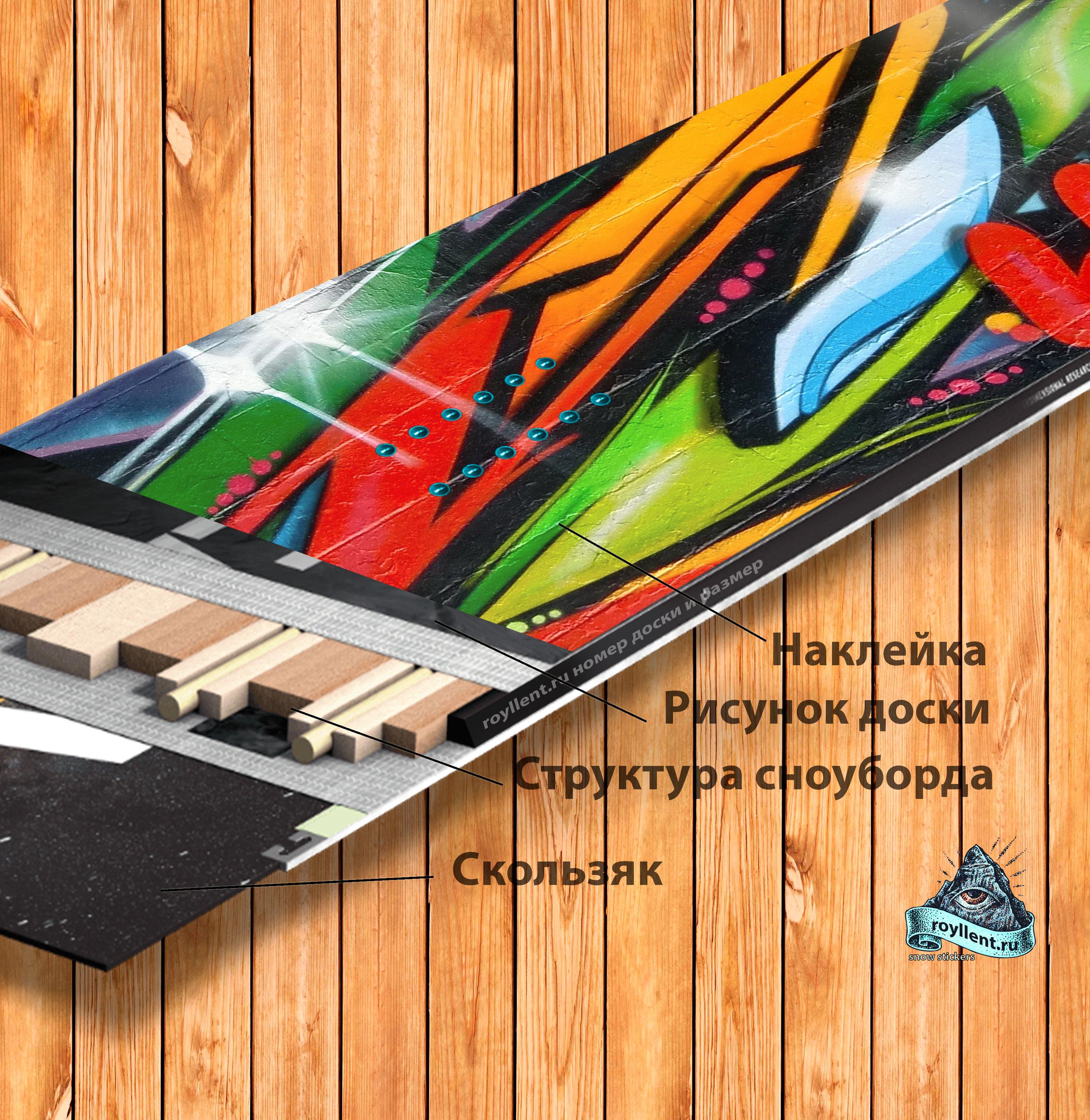 Graffiti Flame Idia Snowboard Design