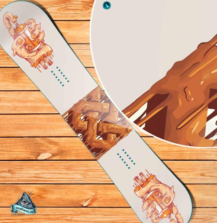 Сноуборд наклейка на доску или лыжи