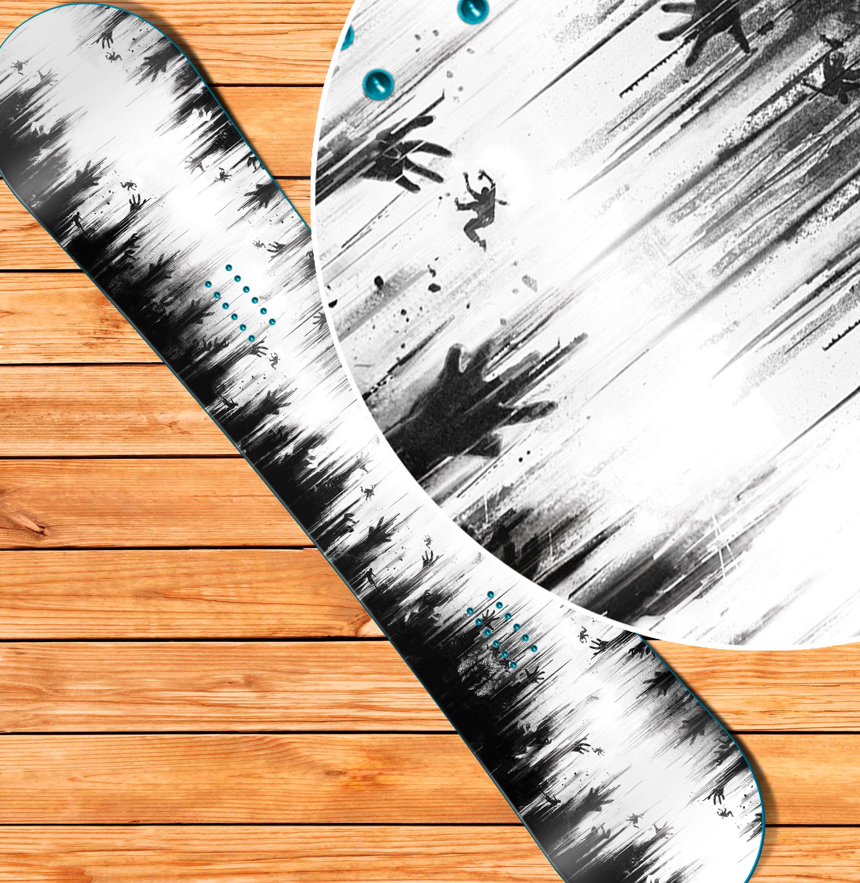 купить наклейку на сноуборд или лыжи Dying Light