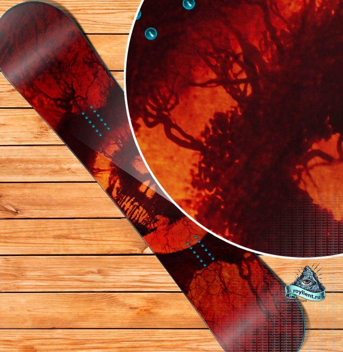 Купить полноразмерную наклейку на доску череп скилет Gears of War 3 Game Design