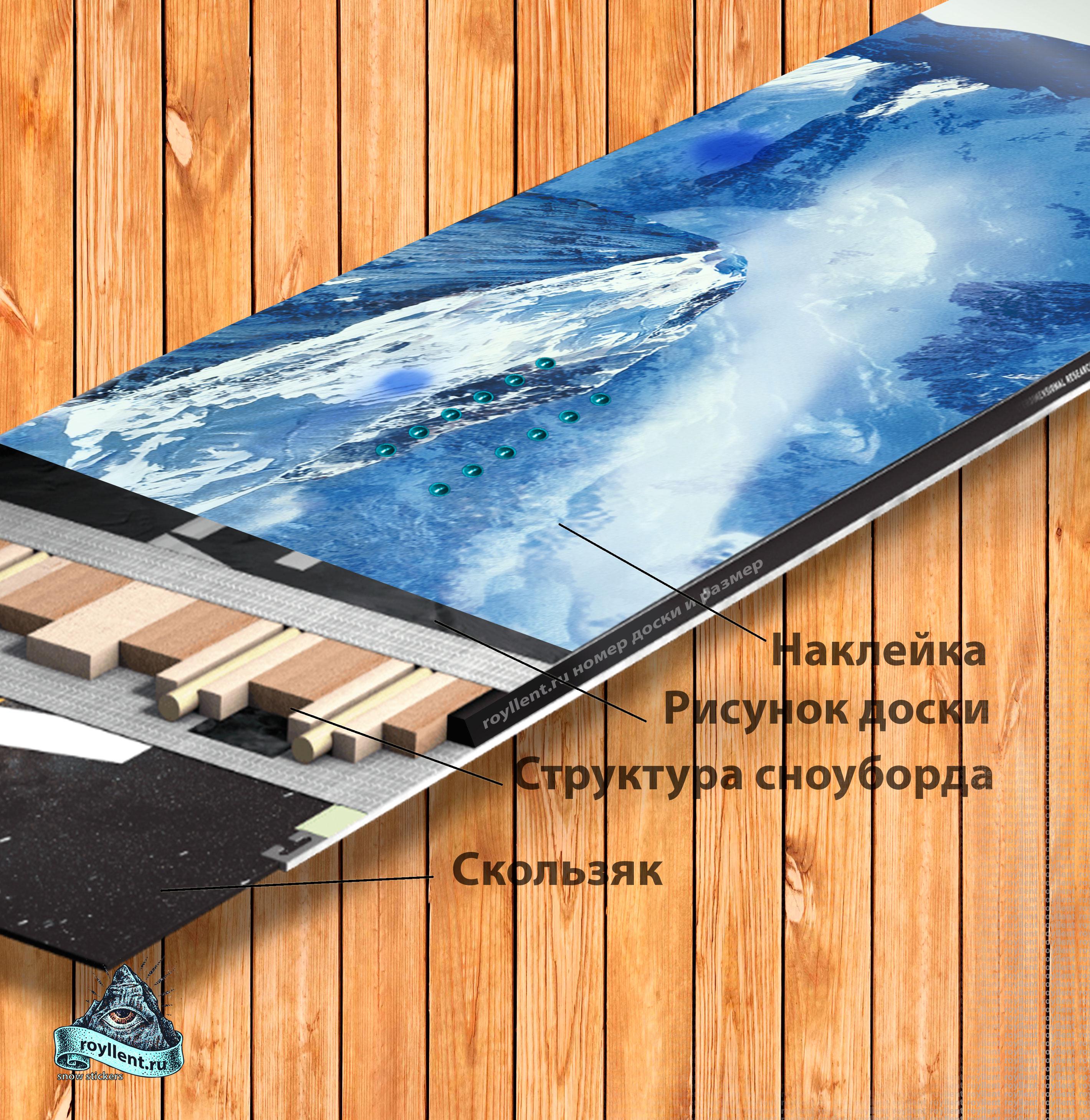 GoBROtravel - Surf Camp Art купить наклеку на сноуборд