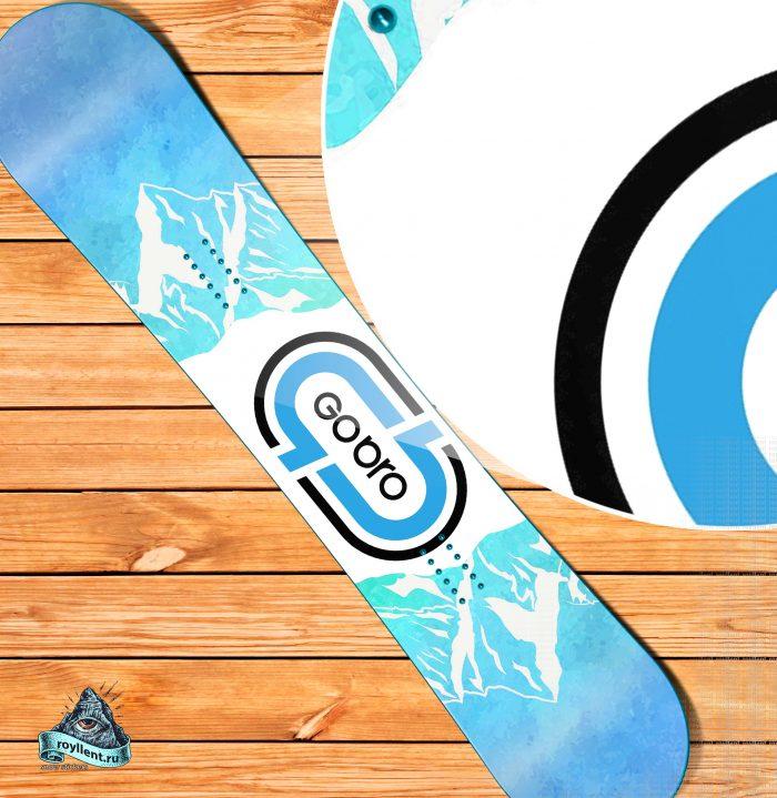 Брендированный сноуборд в фирменном стиле