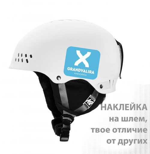 GrandValira наклейка на шлем