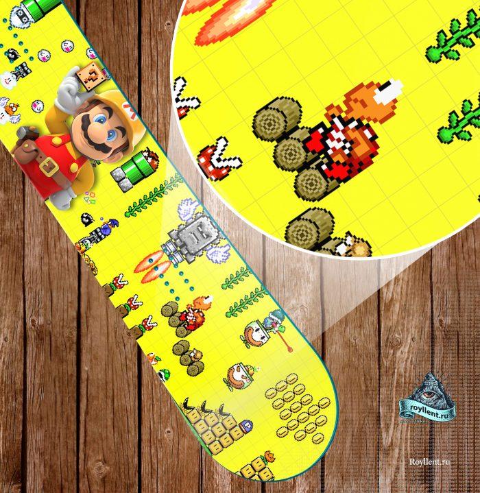 Виниловая наклейка полноразмерная на доску для ребенка mario-pixel-game