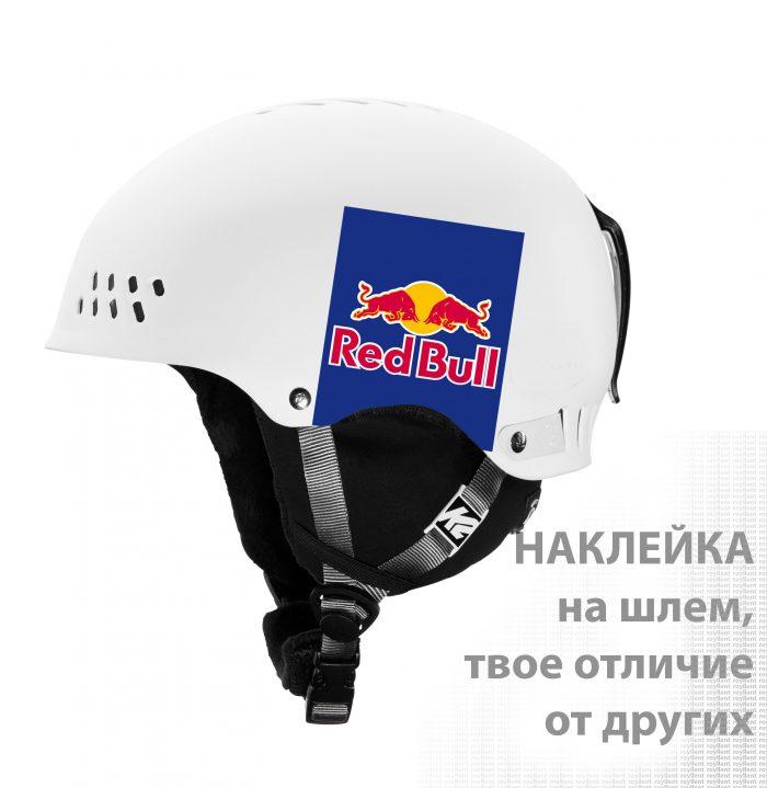 Наклейка на шлем RedBull